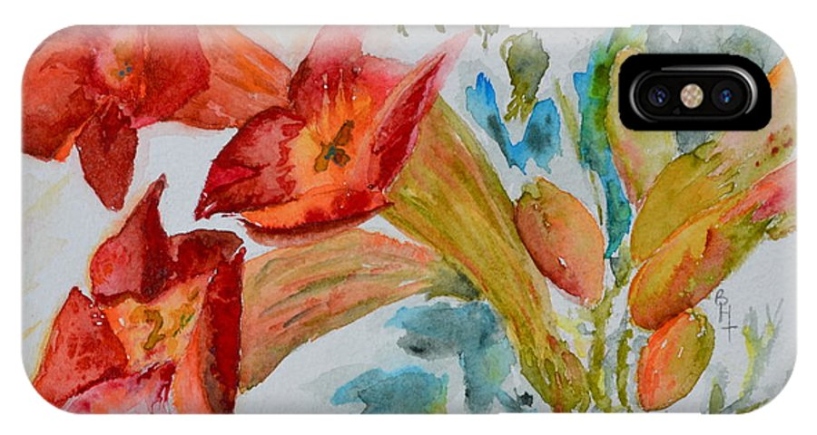Watercolor IPhone X Case featuring the painting Vigne Provincial by Beverley Harper Tinsley