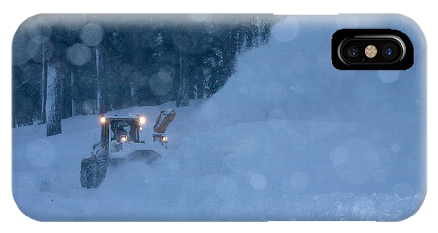 California IPhone X Case featuring the photograph Village Scene During Giant Storm by Justin Bailie