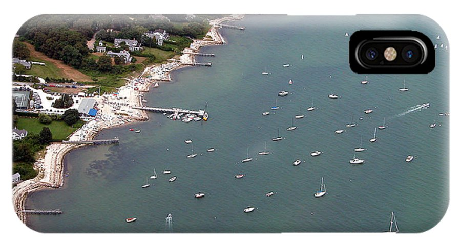 IPhone X Case featuring the photograph Vineyard Haven Yacht Club by Richard Sherman
