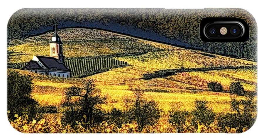 Alsace IPhone X Case featuring the photograph Vineyard In Autumn by Selke Boris