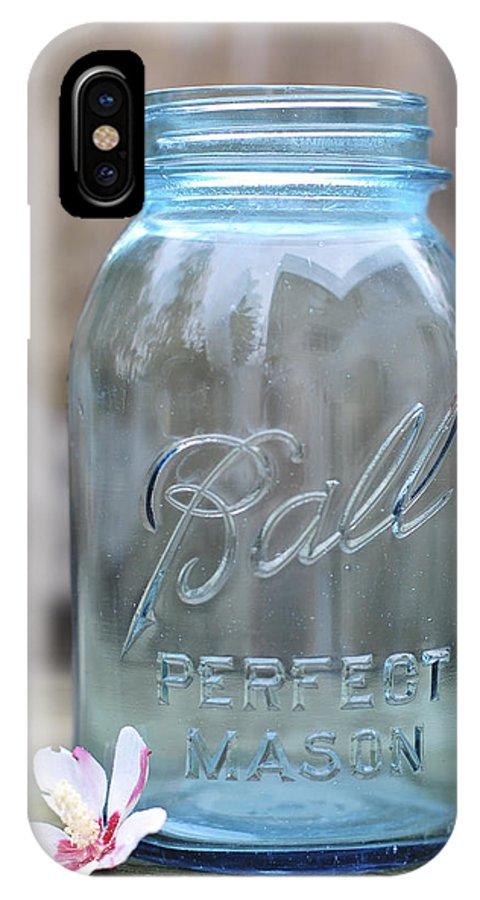 Vintage Ball Mason Blue IPhone X Case featuring the photograph Vintage Ball Mason Blue by Terry DeLuco