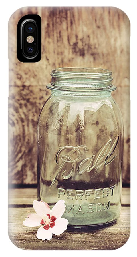 Vintage Ball Mason Jar IPhone X Case featuring the photograph Vintage Ball Mason Jar by Terry DeLuco
