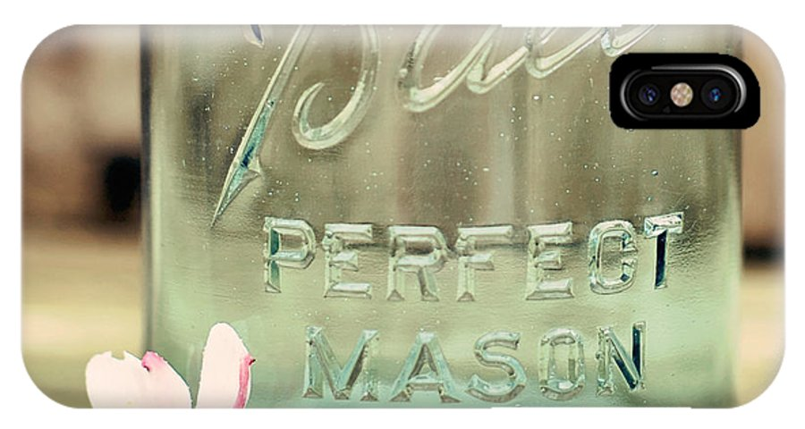 Vintage Ball Perfect Mason Blue IPhone X Case featuring the photograph Vintage Ball Perfect Mason by Terry DeLuco