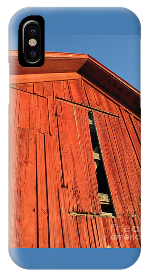 Barn IPhone X Case featuring the photograph Vintage Barn Aglow by Ann Horn