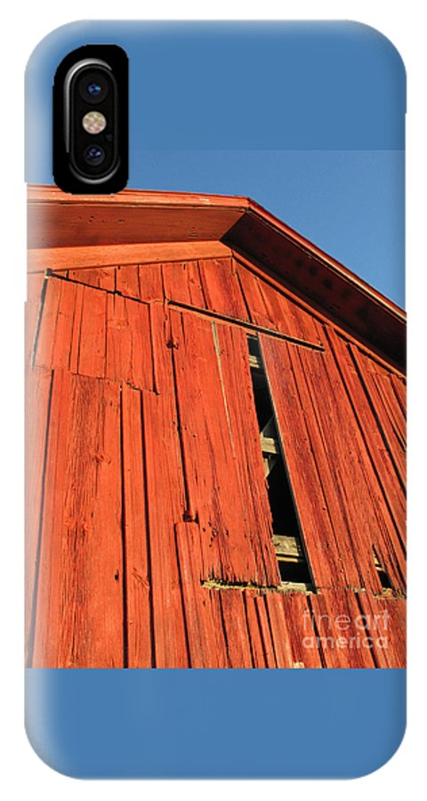 Barn IPhone Case featuring the photograph Vintage Barn Aglow by Ann Horn