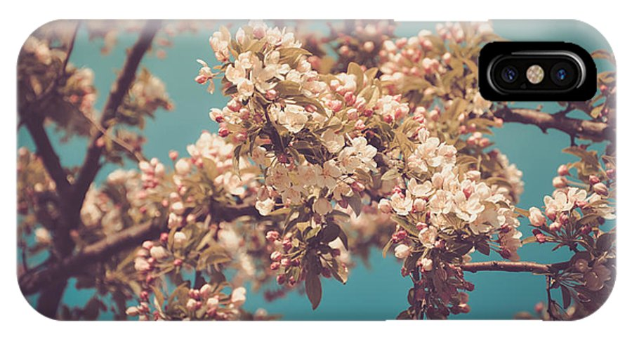 Landscape IPhone X Case featuring the photograph Vintage Blossom by Brenna Schelle