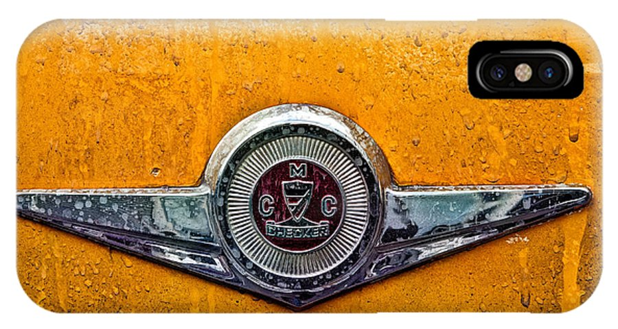 Nyc City IPhone X Case featuring the photograph Vintage Checker Taxi by John Farnan