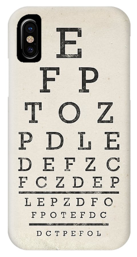 Vintage Eye Chart Iphone X Case For Sale By Industrial Prints