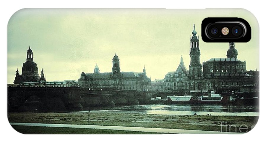 Germany IPhone X Case featuring the photograph Vintage German Town Dresden by Regina Siebrecht