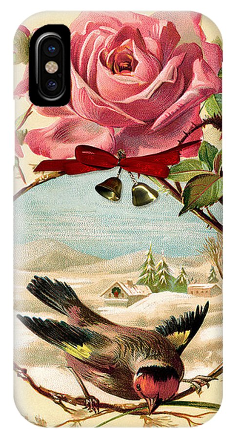 Arizona IPhone X Case featuring the photograph Vintage Happy Holidays by Paula Ayers