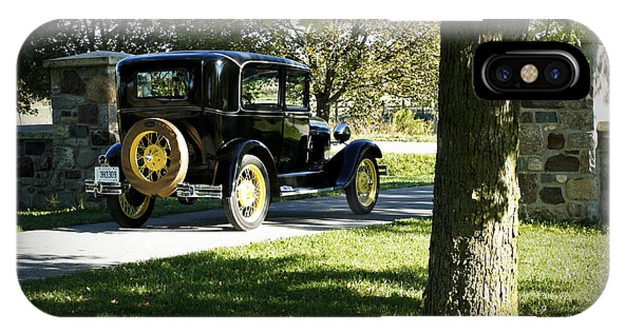 Vintage Moments IPhone X Case featuring the photograph Vintage Moments Ford Tudor Model A by Inspired Nature Photography Fine Art Photography