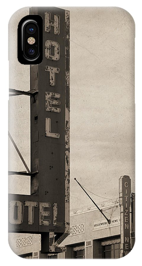 Sign IPhone X Case featuring the photograph Vintage Neon by Bill Jonas