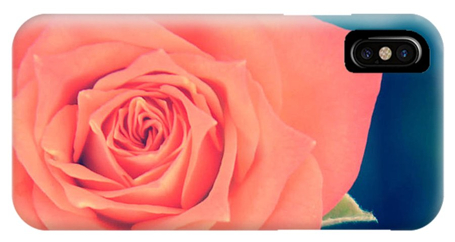 Flower IPhone X Case featuring the photograph Vintage Pink by Kimberly Mitchell
