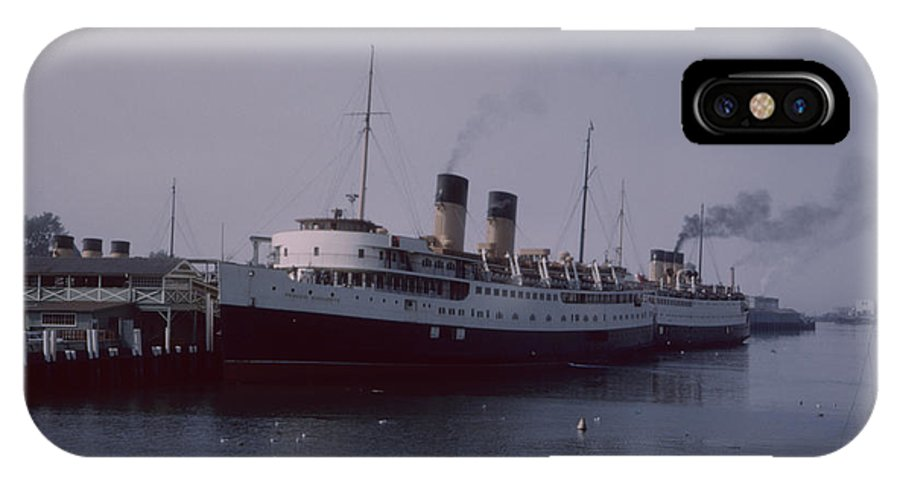 Steamship IPhone X Case featuring the photograph Vintage Princess Marguerite II By Lynn Bramkamp by David Hohmann