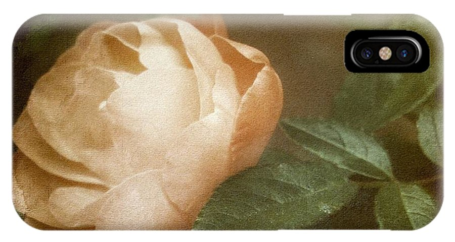 Vintage IPhone X Case featuring the photograph Vintage Rose by Lilliana Mendez
