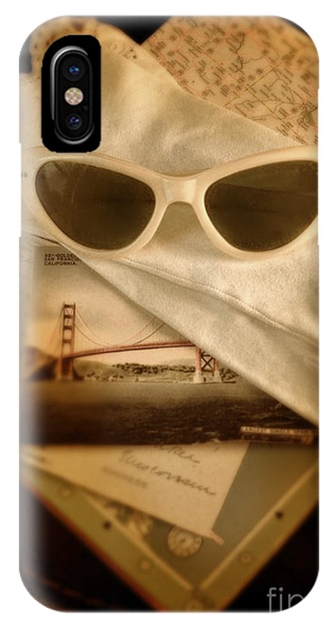 Sunglasses IPhone X Case featuring the photograph Vintage Travel by Jill Battaglia