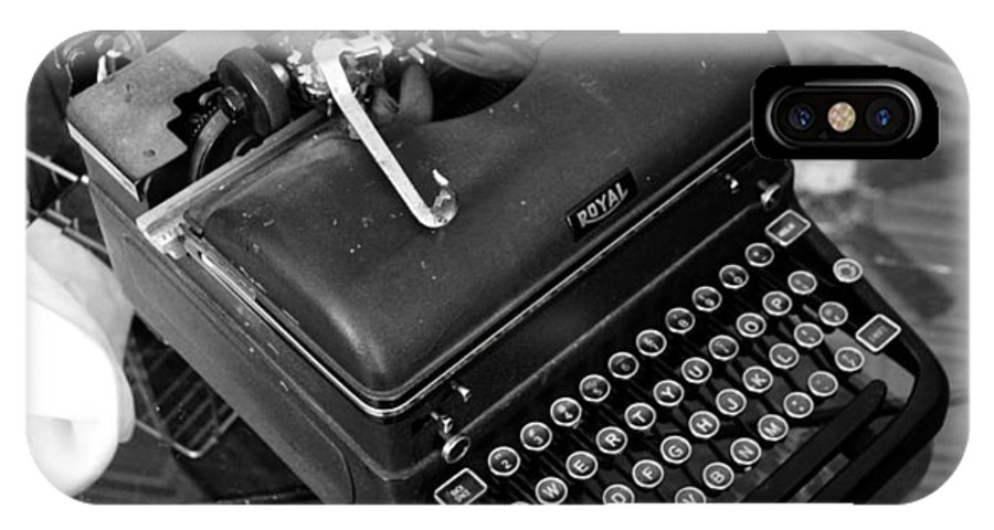 Antique IPhone X Case featuring the photograph Vintage Typewriter by Holly Blunkall