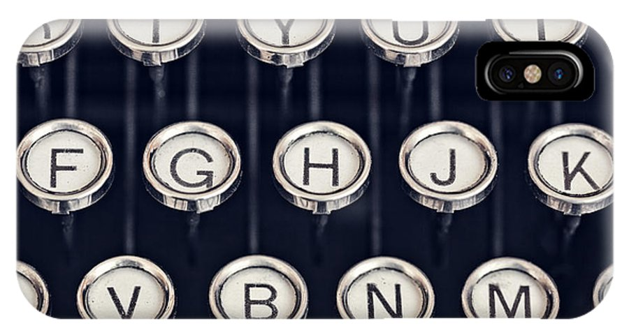Alphabet IPhone X Case featuring the photograph vintage Typewriter Keys by Leslie Banks