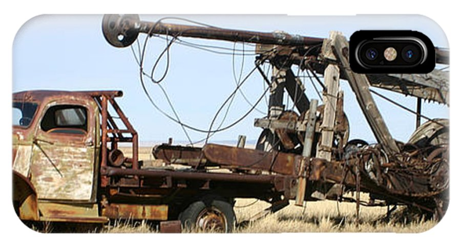 Thank You For Buying A 40.000 X 13.375 Print Of Vintage Water Well Drilling Truck To A Buyer From Ramah IPhone X Case featuring the photograph Vintage Water Well Drilling Truck by Jack Pumphrey