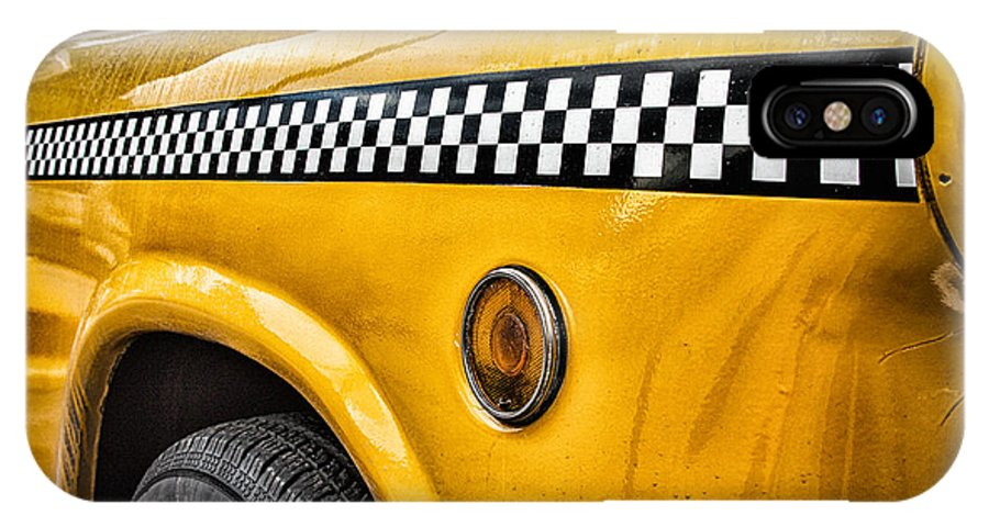 Vintage Nyc Cab IPhone X Case featuring the photograph Vintage Yellow Cab by John Farnan