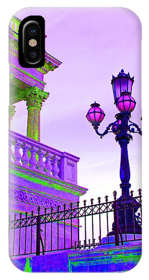 Washington Dc IPhone X Case featuring the photograph Violet Mood by Iryna Goodall