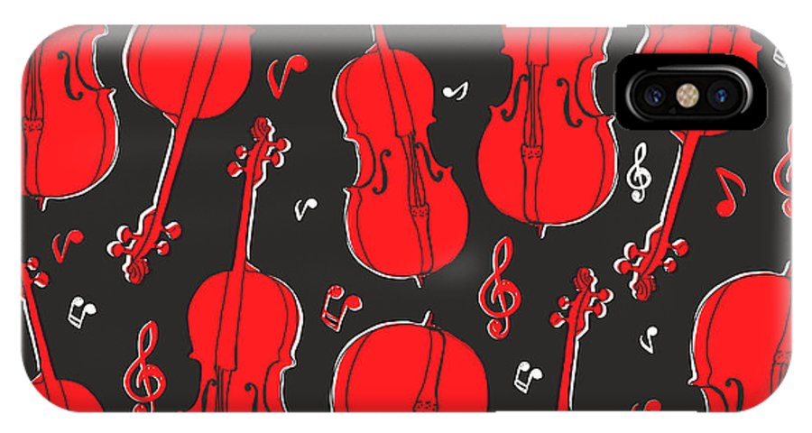 Play IPhone X Case featuring the digital art Violin Pattern by Subbery