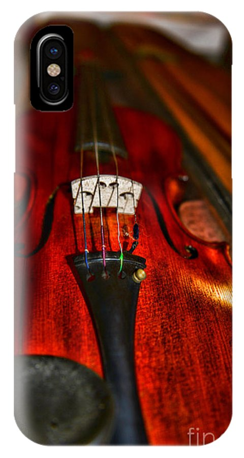 Paul Ward IPhone X Case featuring the photograph Violin Study by Paul Ward
