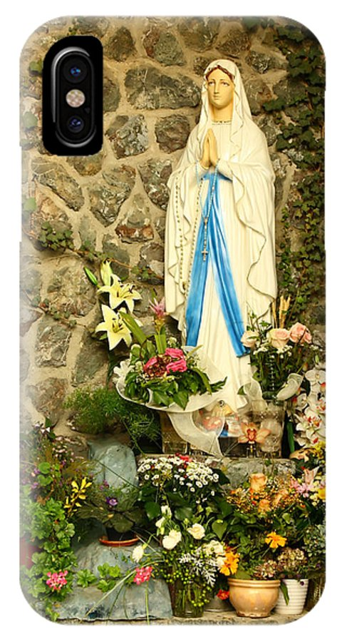 Virgin Mary IPhone X Case featuring the photograph Virgin Mary Grotto by Borislav Marinic
