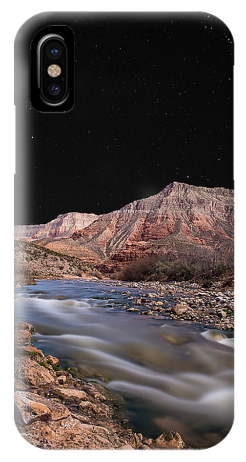 River IPhone X Case featuring the photograph Virgin River At Night 2 by Richard Dickinson