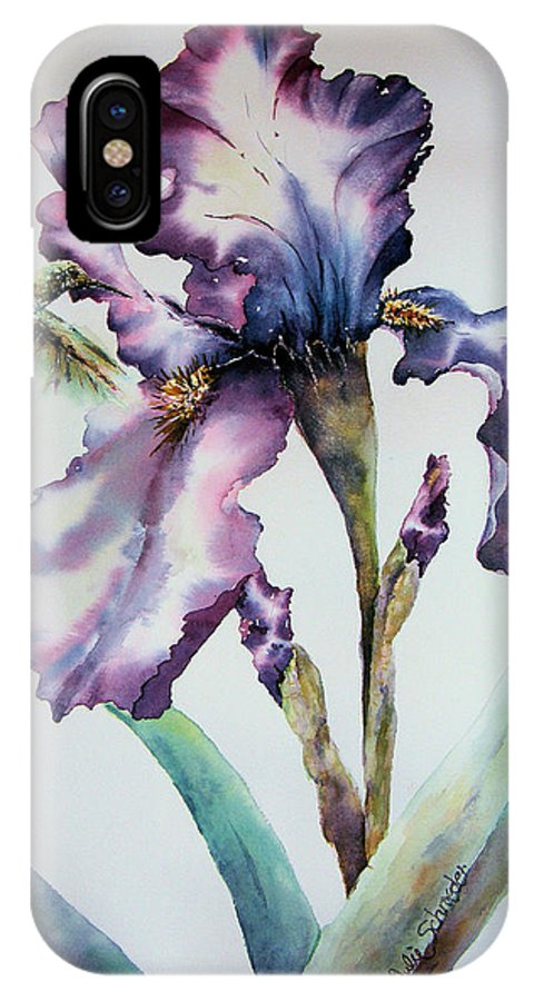 Floral IPhone Case featuring the painting Visitor by Julie Schroeder