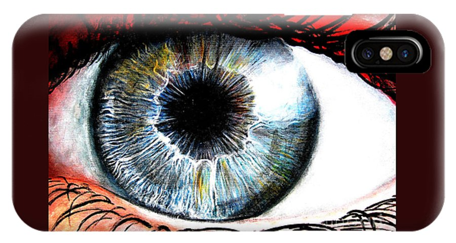 Vivid IPhone X Case featuring the painting Vivid Vision by Tylir Wisdom