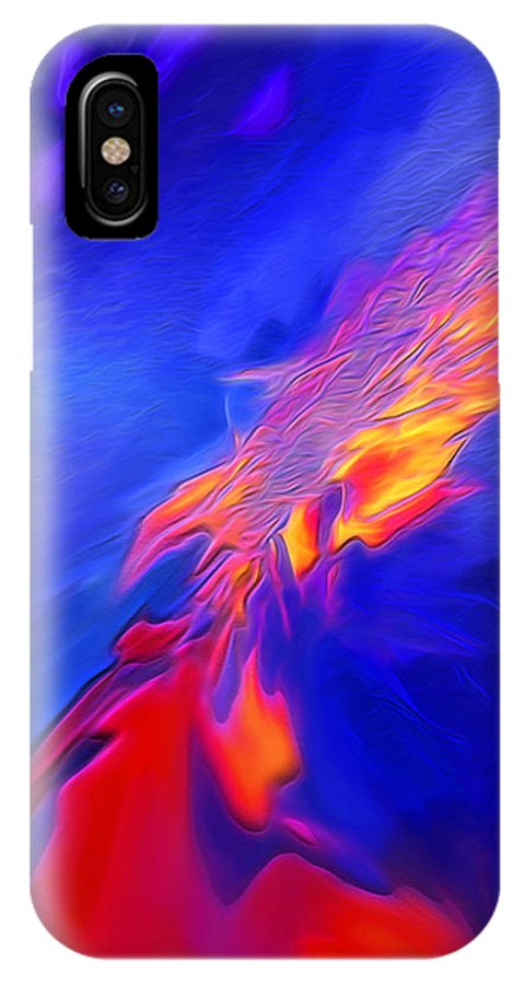 Digital Art IPhone X Case featuring the photograph Volcanic - Abstract by Steve Ohlsen