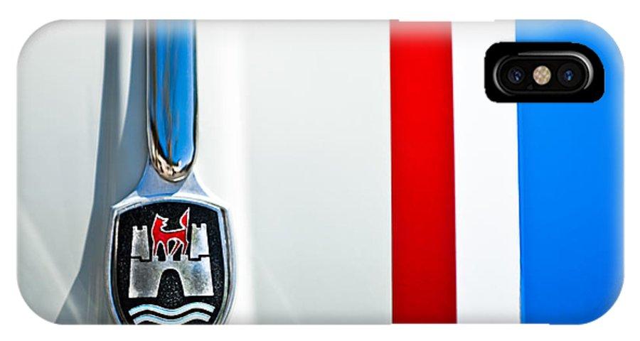 Volkswagen Vw IPhone X / XS Case featuring the photograph Volkswagen Vw Hood Emblem 3 by Jill Reger