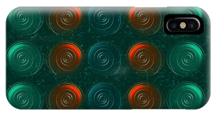 Abstract IPhone X Case featuring the digital art Vortices by Anastasiya Malakhova