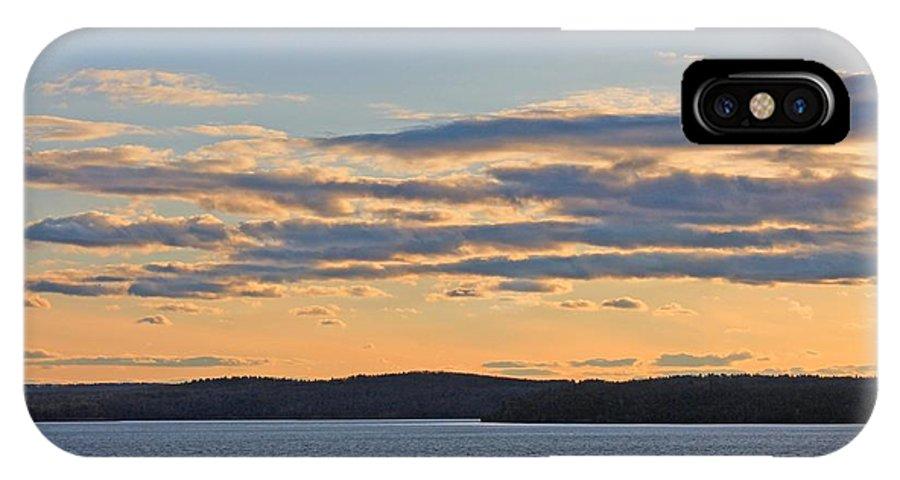 Wachusett Reservoir IPhone X Case featuring the photograph Wachusett Reservoir Sunset by Michael Saunders