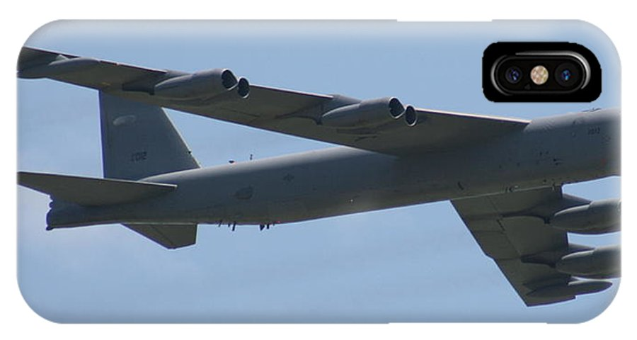 Air IPhone X Case featuring the photograph Wafb 09 B52 Stratofortress by David Dunham