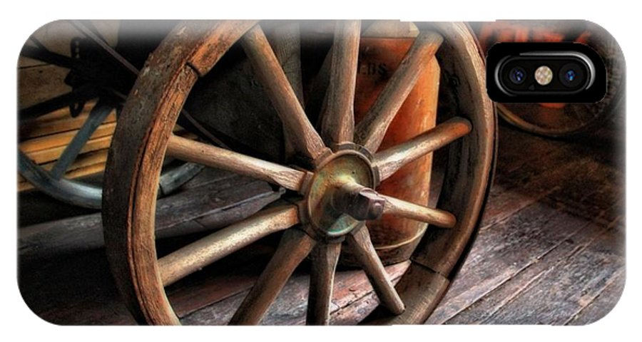 Wagon Wheels IPhone X Case featuring the photograph Wagon Wheels by Dan Sproul