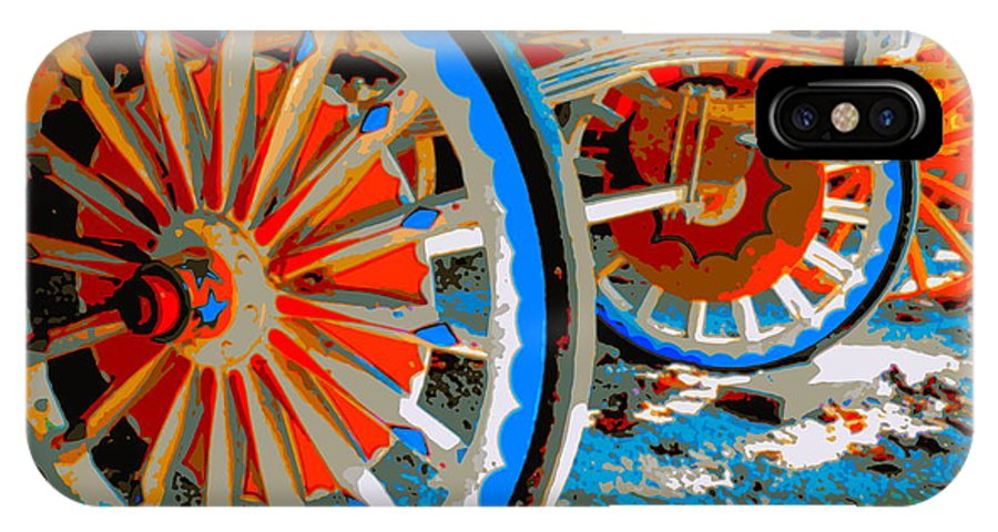 Wagon IPhone X Case featuring the photograph Wagon Wheels by Jean Wright