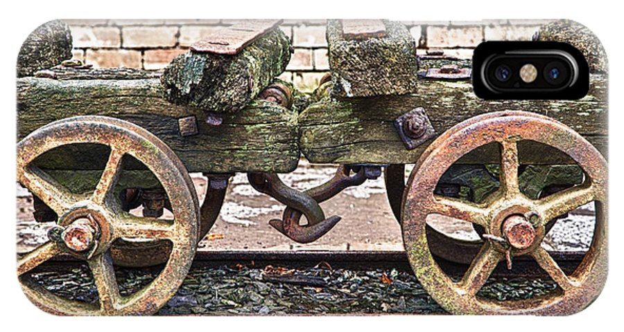 2012 IPhone X Case featuring the photograph Wagon's Roll by Christine Smart