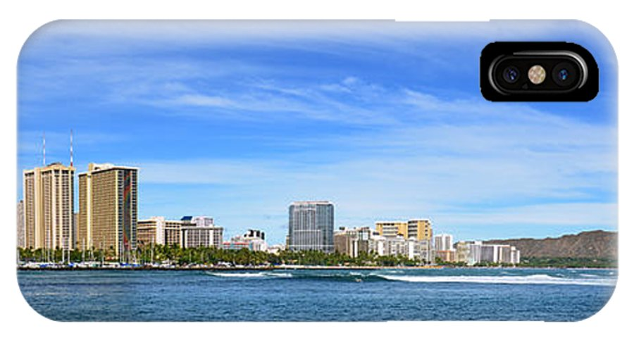 Waikiki Beach IPhone X Case featuring the photograph Waikiki And Diamond Head From The West by Aloha Art