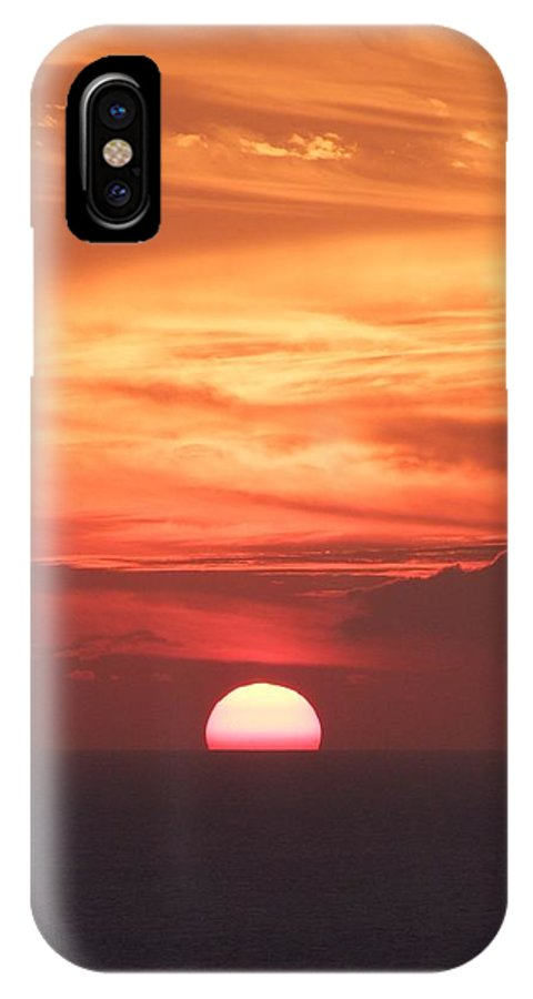 Mary Deal IPhone X Case featuring the photograph Waikiki Sunset No 2 by Mary Deal