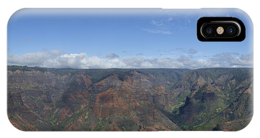 Waimea Falls IPhone X Case featuring the photograph Waimea Canyon by Brian Kamprath