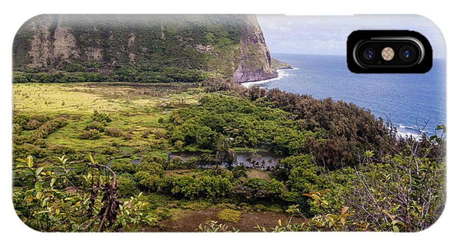 Bays IPhone X Case featuring the photograph Waipi'o Valley by Jim Thompson