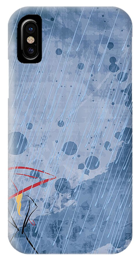 Rain IPhone X / XS Case featuring the digital art Waiting by Decorative Arts