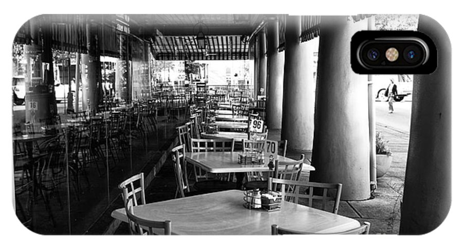 Waiting For Customers In New Orleans IPhone X Case featuring the photograph Waiting For Customers In New Orleans Mono by John Rizzuto