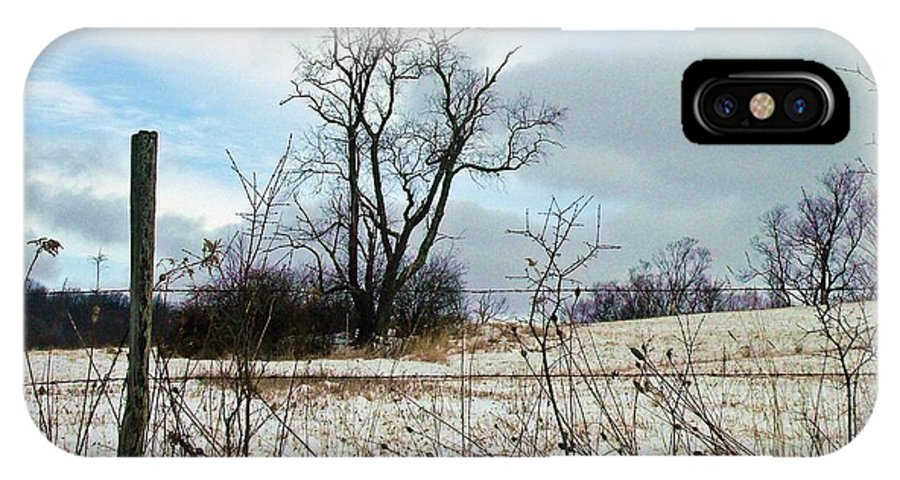 Western Ny State IPhone X Case featuring the photograph Waiting For Spring by Christian Mattison