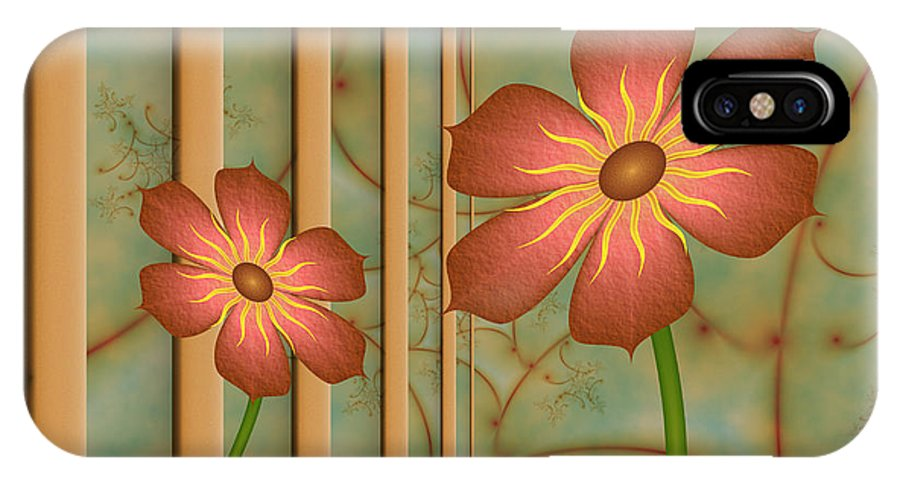 Fractal IPhone X Case featuring the digital art Waiting For Spring by Gabiw Art