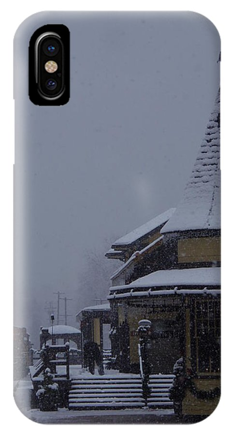 New Hope IPhone X Case featuring the photograph Waiting On A Train by Greg Kear