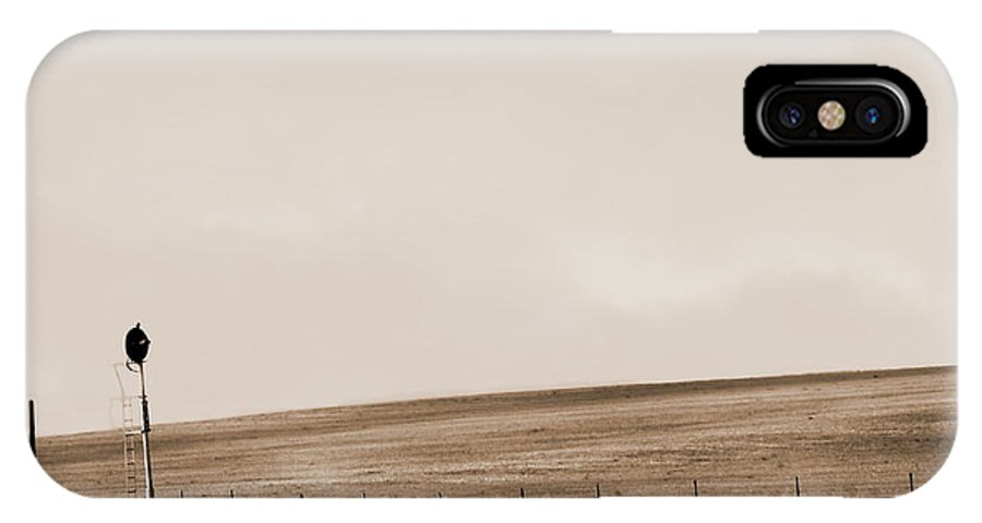Digital Sepia Photo IPhone X Case featuring the digital art Waiting To Change Se by Tim Richards