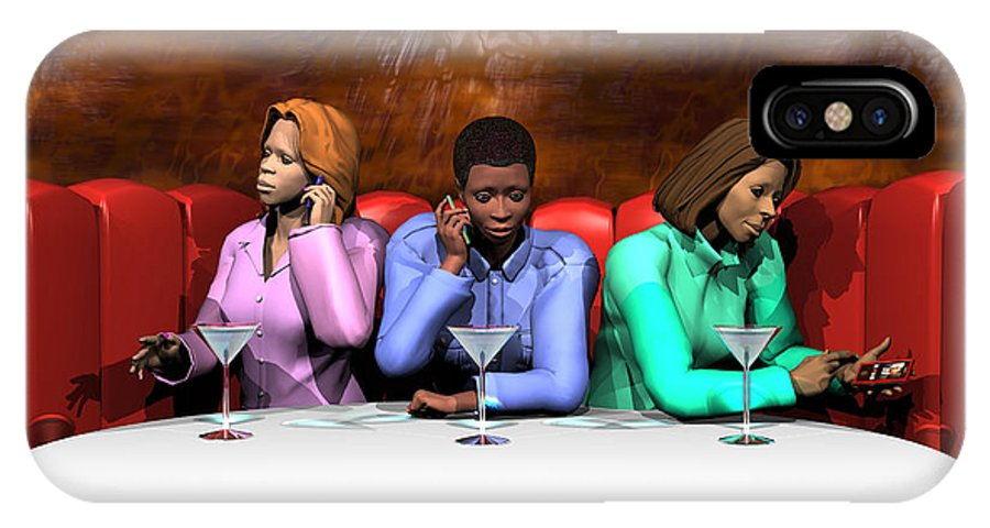 Females IPhone X Case featuring the digital art Waiting To Exhale by Walter Neal